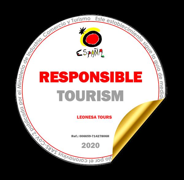 Muestra logo de responsible tourism de leonesa tours